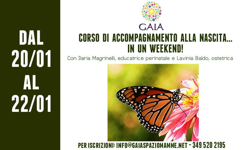 CORSO DI ACCOMPAGNAMENTO ALLA NASCITA… IN UN WEEK END! 20/21/22 Gennaio 2017