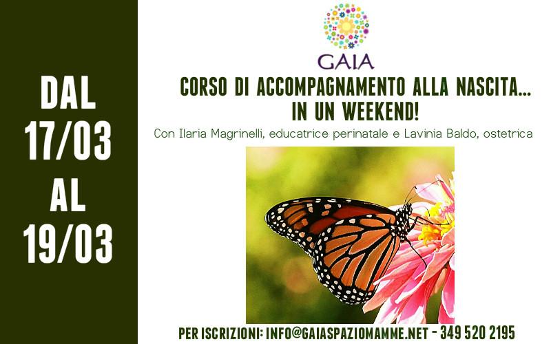 CORSO DI ACCOMPAGNAMENTO ALLA NASCITA… IN UN WEEK END! 17/18/19 Marzo 2017
