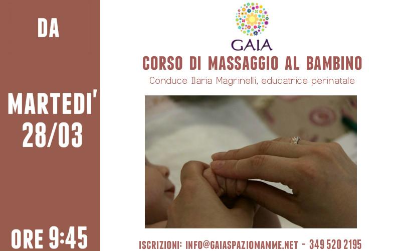 Il 28 Marzo 2017 inizia un NUOVO corso di massaggio al bambino