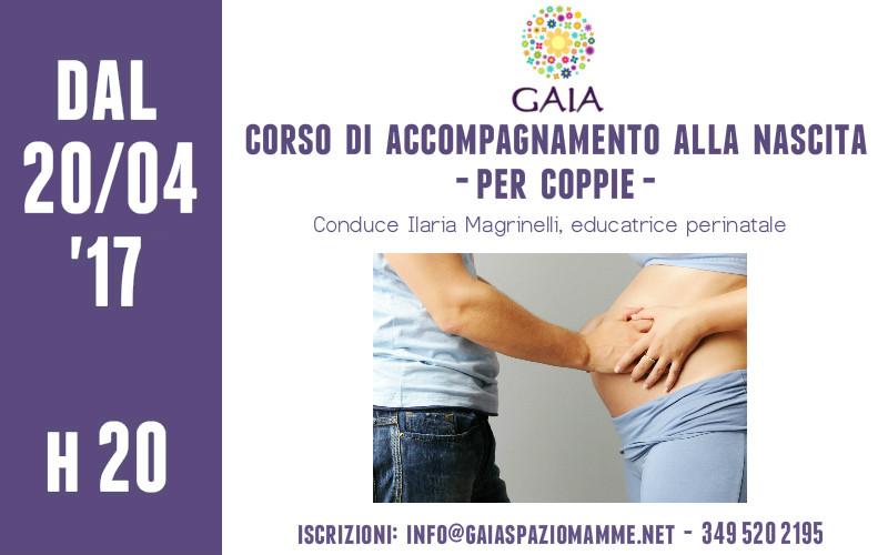20 Aprile 2017: inizia un nuovo Corso di Accompagnamento alla Nascita per Coppie!