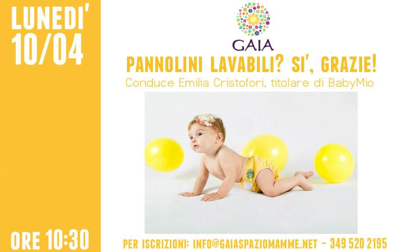 Pannolini lavabili: incontro con Emilia Cristofori il 10 Aprile 2017