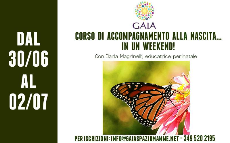 Torna il Corso di Accompagnamento alla Nascita… in un Weekend! 30 Giugno/02 Luglio 2017