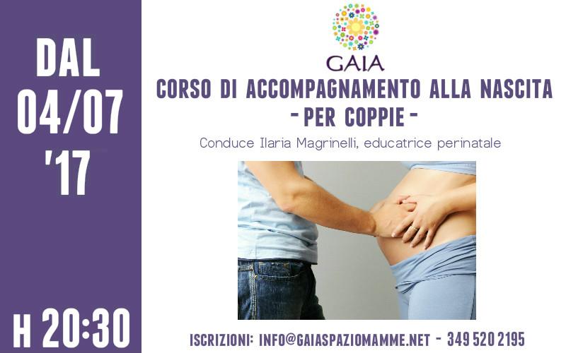 Il 4 Luglio 2017 inizia un NUOVO corso di accompagnamento alla nascita SERALE per le COPPIE!!!