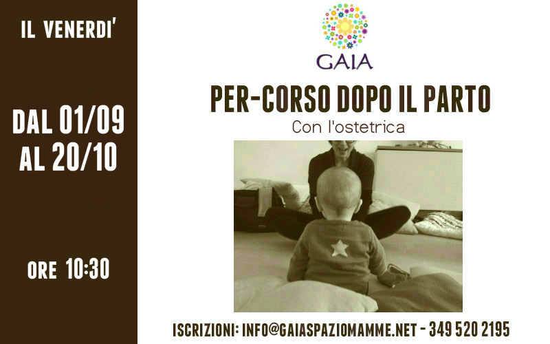 Il 1° Settembre 2017 inizia il nuovo Per-corso dopo il parto. Partecipa con il tuo bambino!