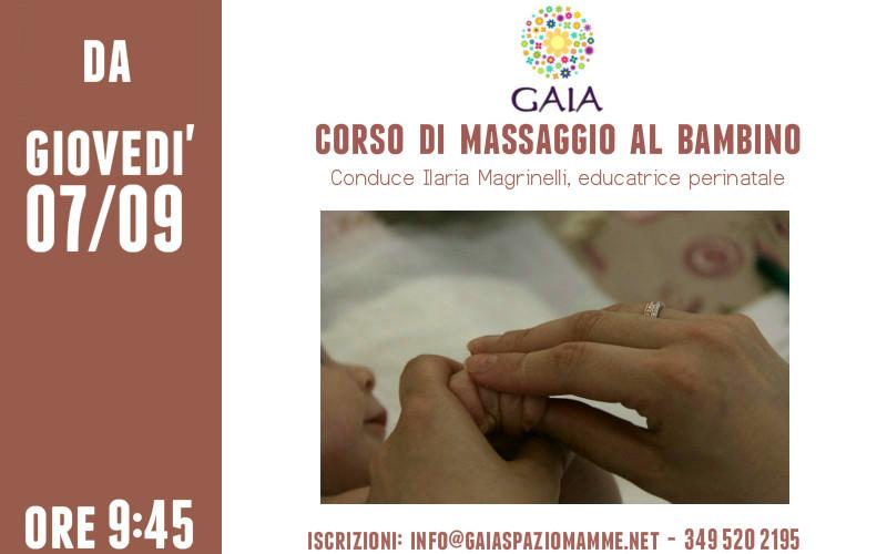 Il 7 Settembre 2017 inizia un nuovo corso di massaggio al bambino