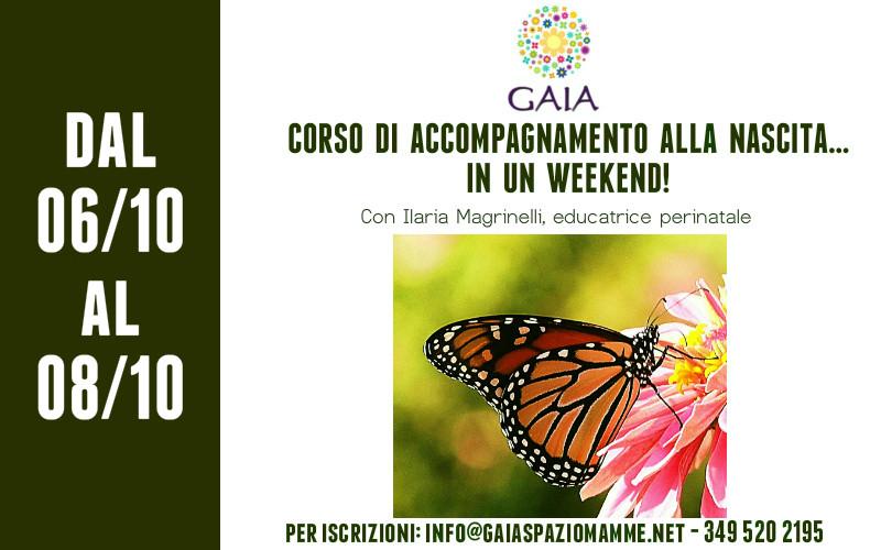 Torna il Corso di Accompagnamento alla Nascita… in un Weekend! 6/8 ottobre 2017