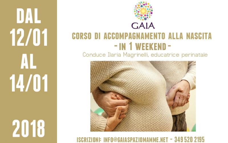 Corso di Accompagnamento alla Nascita… in 1 Weekend! dal 12 al 14 gennaio 2018