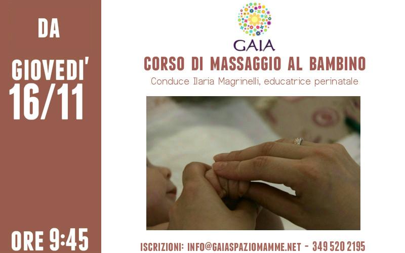 Il 16 Novembre 2017 inizia un nuovo Corso di Massaggio al Bambino!