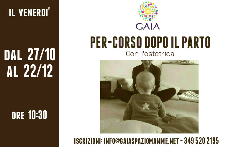 Nuovo Per-corso dopo il parto: partecipa con il tuo bambino! Inizio il 27 Ottobre 2017