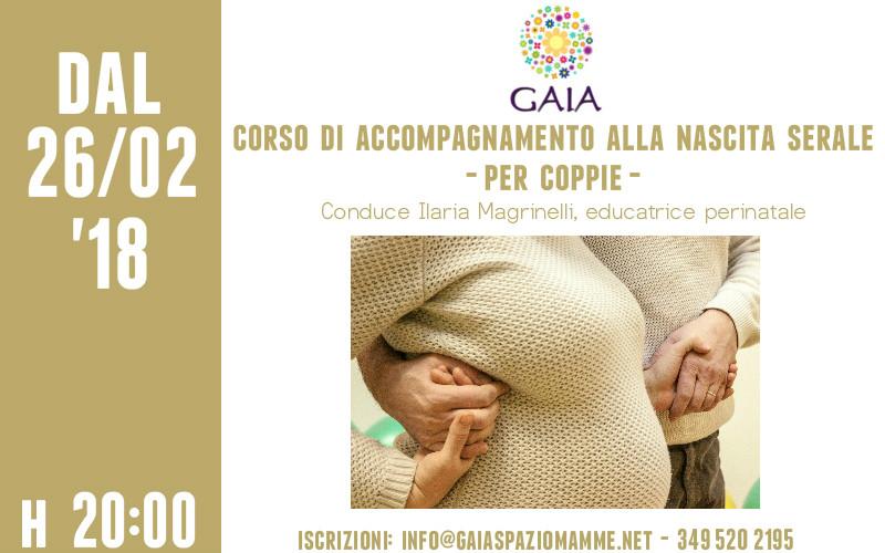 Il 26 febbraio '18 inizia un nuovo Corso di Accompagnamento alla Nascita serale per coppie!