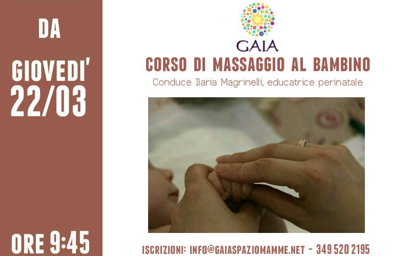 Giovedì 22 marzo 2018 inizia un nuovo Corso di Massaggio al Bambino
