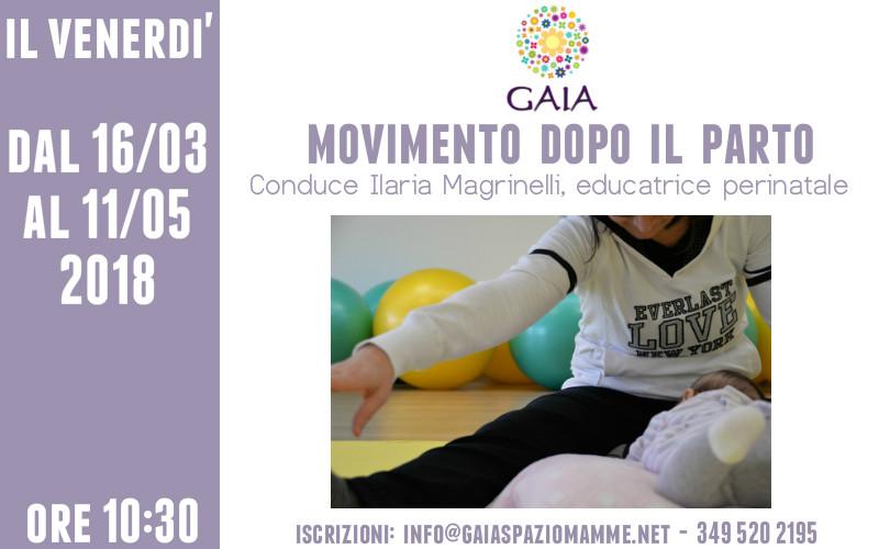 Movimento dopo il parto: partecipa con il tuo bambino! Il prossimo corso inizia il 16 marzo 2018